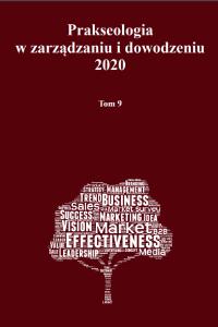 Prakseologia wzarządzaniu idowodzeniu 2020 Tom 9